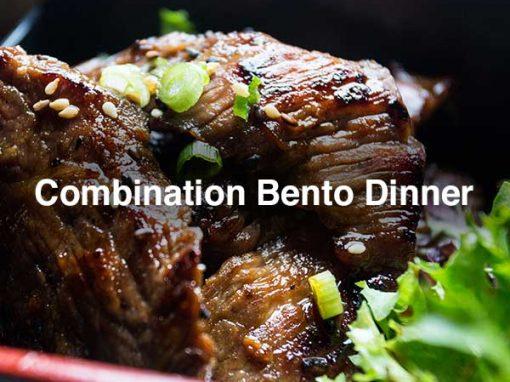 COMBINATION BENTO DINNER